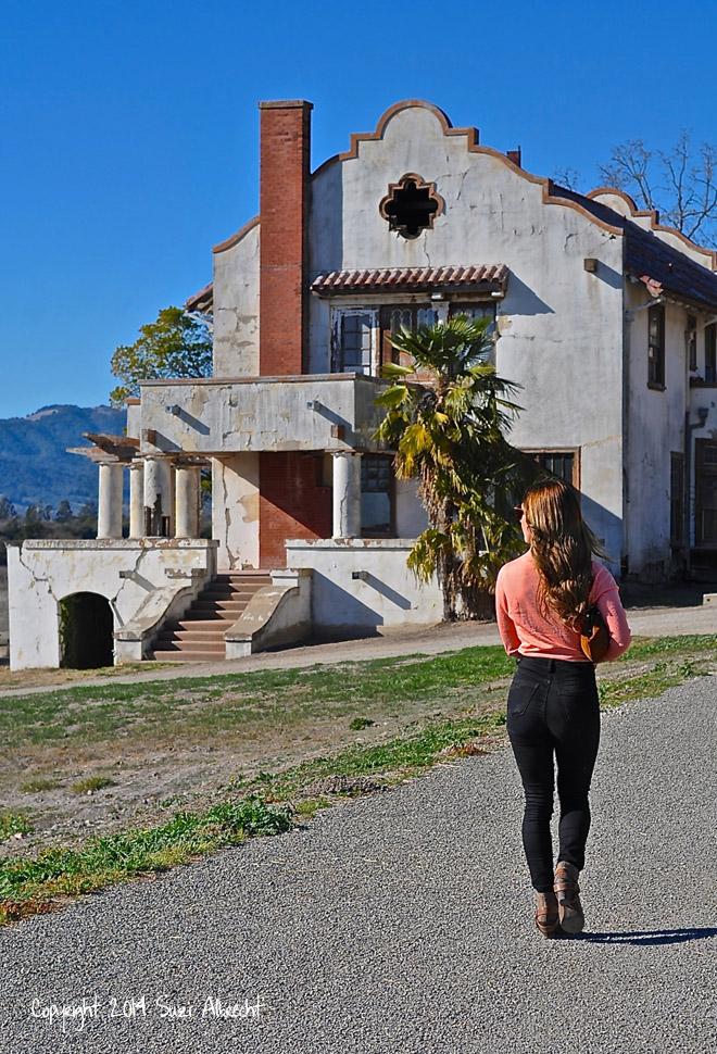 Taylor Walking to Scribe Home Napa