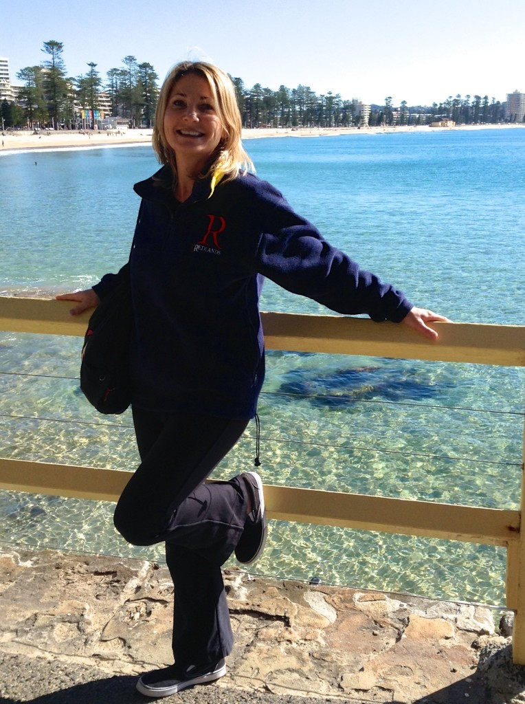 Suzi Albrecht after Yoga Class at Manly Beach in Sydney Australia