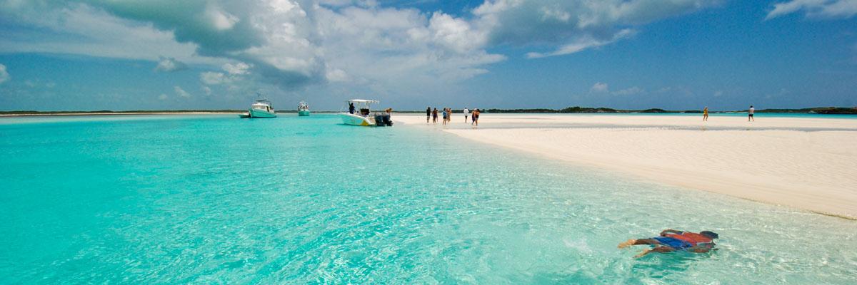 Exuma Sandbar Swimming