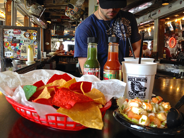 shrimp ceviche lunch at hogs breath key west