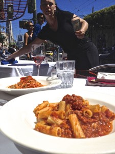 pasta in little italy san fran