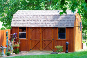nice garden wood shed