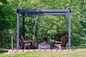 pergola sitting area outdoors in missouri