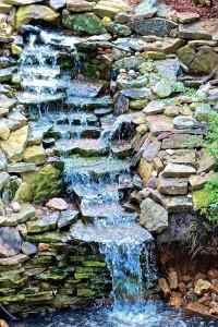 man made garden waterfall in missouri