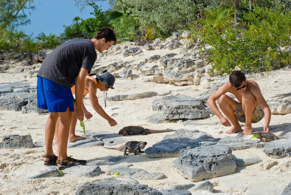 the boys with iguanas exuma