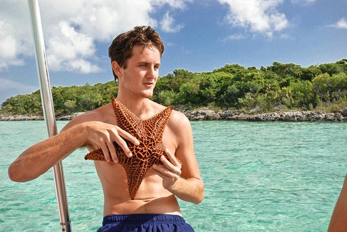 Colin with Starfish Exuma