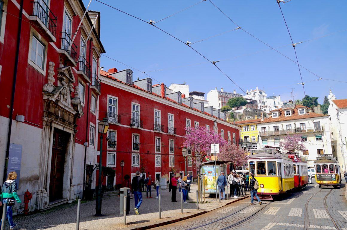 lisbon portugal city tram